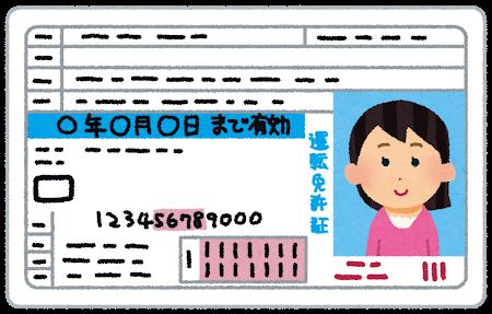 運転免許証ブルー女性